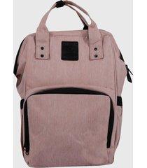 mochila maternal rosa lilas carteras