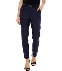 pantalón wados casual azul - calce ajustado