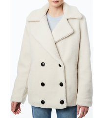 collection b juniors' double-breasted faux-fur teddy coat, created for macy's