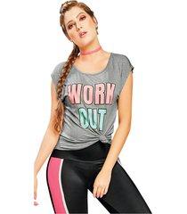 camiseta adulto femenino gris jaspe marketing personal