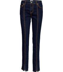 light stretch denim slimmade jeans blå ganni
