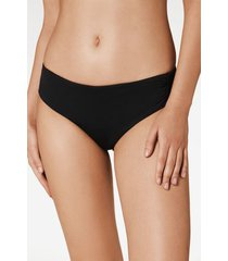 calzedonia indonesia high waist bikini bottoms woman black size 3
