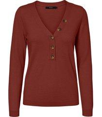 sweater vero moda burdeo - calce ajustado