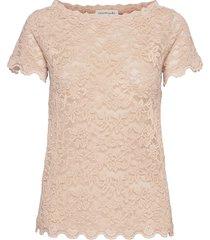 t-shirt ss blouses short-sleeved beige rosemunde