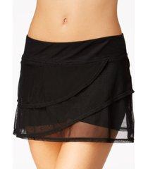 coco reef illusion-overlay swim skirt women's swimsuit