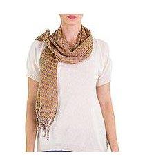 cotton scarf, 'subtle earth textiles' (guatemala)