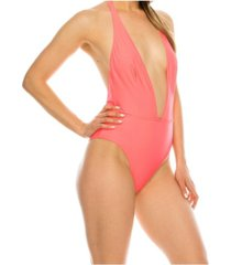 kendall + kylie halter sash 1 piece swimsuit women's swimsuit