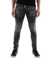 my brand neon yellow denim grey jeans