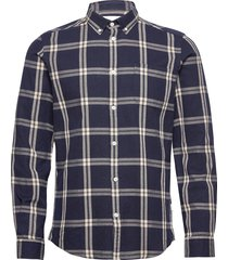 jasper check flannel shirt overhemd casual blauw les deux