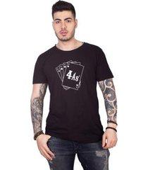 camiseta 4 ás silkada masculina - masculino