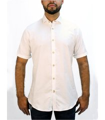 camisa blanca basica manga corta delascar cb004