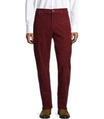 brunello cucinelli men's corduroy cargo pants - burgundy - size 50 (32)