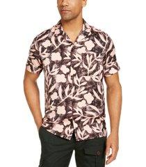 inc men's tropical camp collar shirt, created for macy's