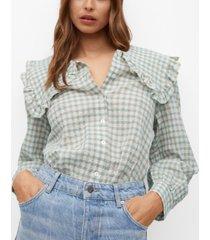 mango babydoll collar cotton shirt