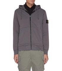 cotton fleece drawstring hoodie