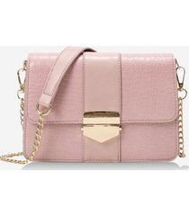 chain cover rectangle crossbody bag
