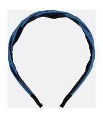 tiara trançada efeito jeans | accessories | azul | u