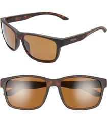 men's smith basecamp 58mm chromapop(tm) polarized sunglasses - matte tortoise