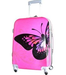 espectacular maleta pequeña 20 pulgadas cabina 4 ruedas 360º  -  mariposa