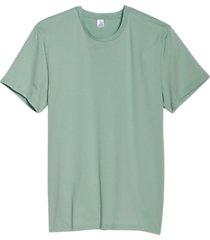 alternative apparel organic cotton crew neck t-shirt faded teal