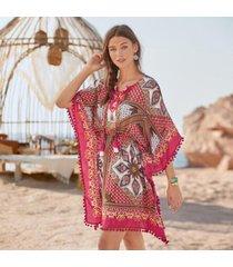 sundance catalog women's atzi cover-up in scarfprint 2xl