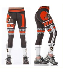 browns leggings - #12 women fan gear - high quality - nfl cleveland browns woman