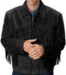 mens simple style western suede jacket black fringe jacket coat, men jackets