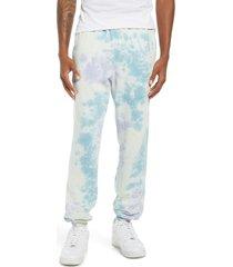 champion sun wash tie dye fleece sweatpants, size x-large in sun wash lemon glacier multi at nordstrom