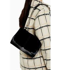 lulu flap shoulder bag - black