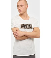 jack & jones jorleox tee ss crew neck blk t-shirts & linnen vit