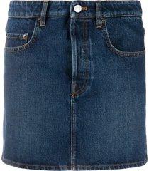 balenciaga straight denim skirt - blue