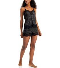 inc women's 2-pc. satin cami & shorts pajama set, created for macy's