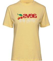 everyday tee - be my cherry t-shirts & tops short-sleeved gul svea