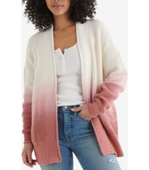 lucky brand dip-dyed knit cotton cardigan