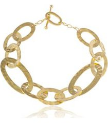 bracelete slogan gold amarelo - u