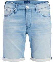 jack & jones plus size shorts lichtblauw denim