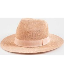 jesslyn band panama hat - blush