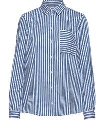 blouse långärmad skjorta blå marc o'polo