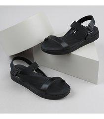 papete feminina beira rio conforto tratorada com elástico preta