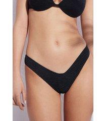calzedonia high cut brazilian swimsuit bottom miami woman black size 4