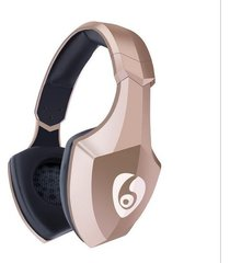 audífonos bluetooth estéreo hd manos libres inalámbricos, s33 on-ear auriculares estéreo inalámbricos audifonos bluetooth manos libres  con luz de flash led audifonos (oro)