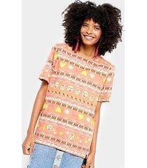camiseta cantão estampa étnica feminina