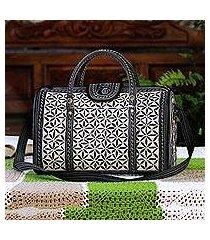 cotton travel bag, 'samosir beauty' (indonesia)