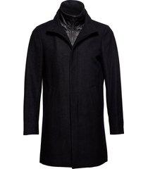 harvey n classic wool wollen jas lange jas zwart matinique