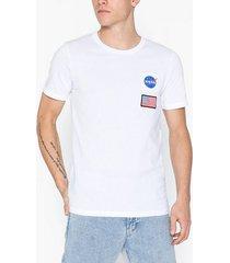 jack & jones jcoberkan tee ss crew neck t-shirts & linnen vit