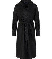 leren jurk exclusive zwart