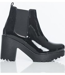 botas negro charol kclass top 1559