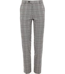 river island mens big & tall grey check skinny fit pants