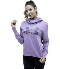 buzos morado under armour buzo cotton fleece sportstyle logo