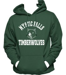 mystic falls timberwolves the vampire diaries hoodie s-3xl deep forest